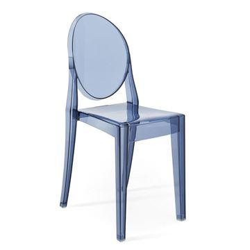 Resim Victoria Ghost Sandalye Toz Mavi