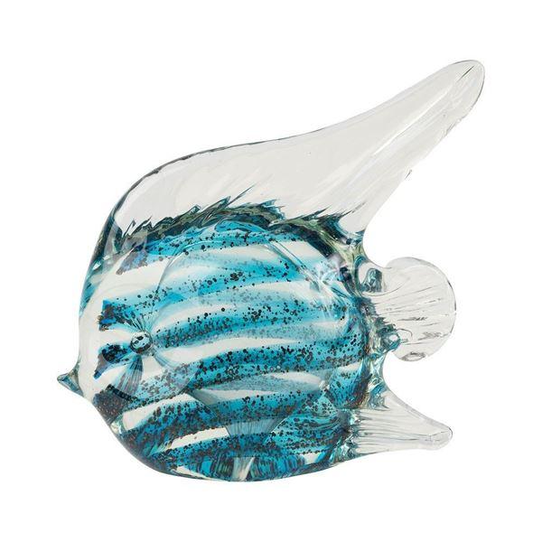 resm Dekoratif Balık Obje Turkuaz