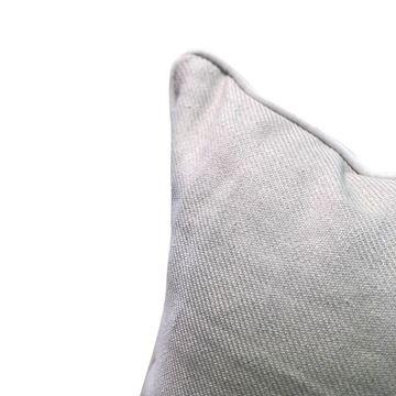 Resim Keten Kare Yastık 50x50 cm