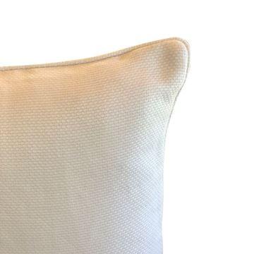 Resim Bej Kare Yastık 50x50 cm