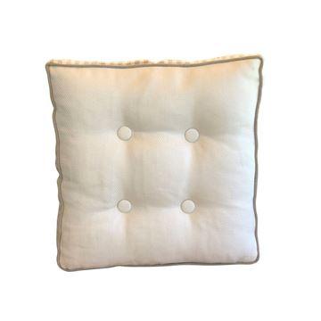 Resim Desenli Çift Taraflı Düğmeli Yastık 45x45 cm