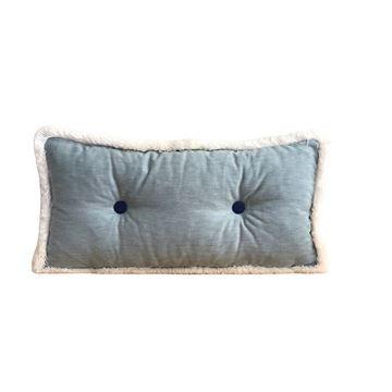 Resim Düğmeli Uzun Yastık  30x65 cm