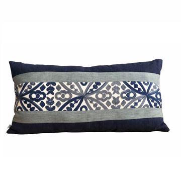 Resim Biyeli Baget Yastık 30x60 cm