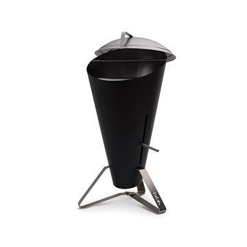 Resim Cone Siyah Odun Kömürlü Barbekü