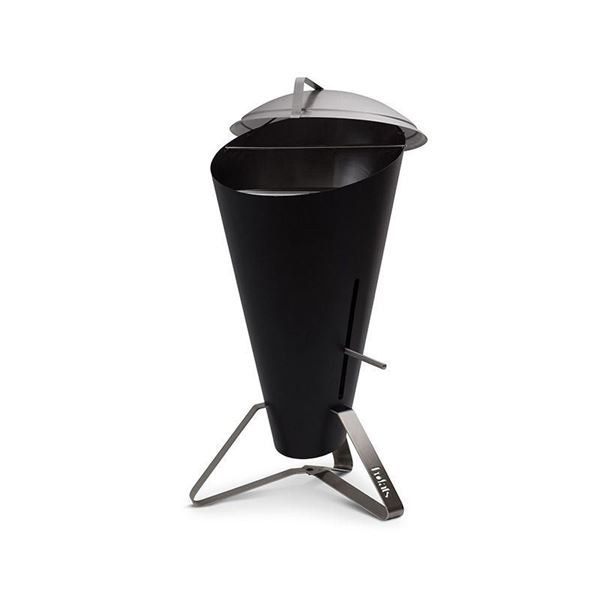 resm Cone Siyah Odun Kömürlü Barbekü